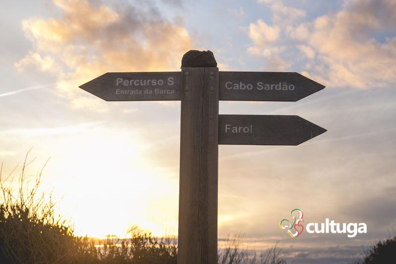 Pôr do sol no Cabo Sardão