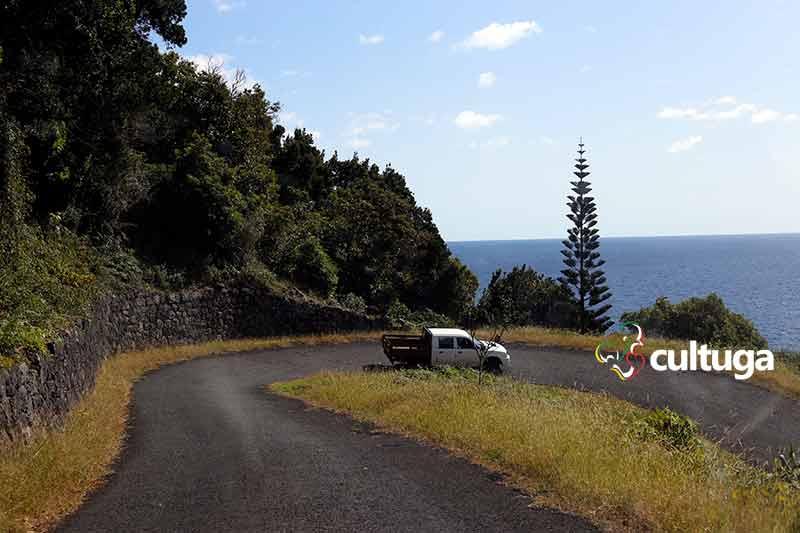 estrada fajã dos vimes, ilha de São Jorge, nos açores