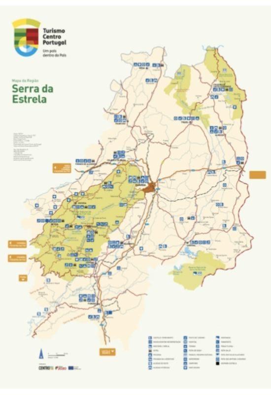 Mapa da Serra da Estrela