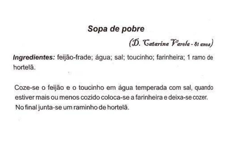Sopas portuguesas - Sopa de Pobre