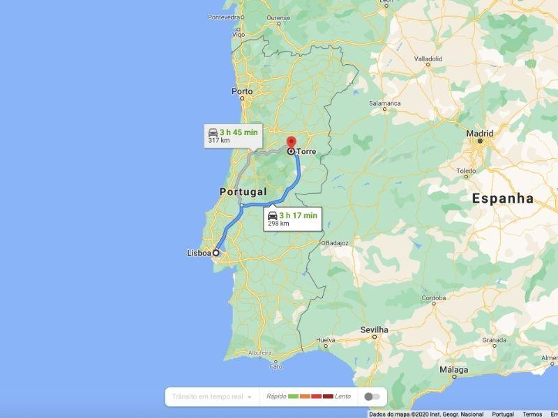Como ir a Serra da Estrela de Lisboa