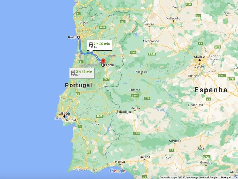 Como ir a Serra da Estrela do Porto