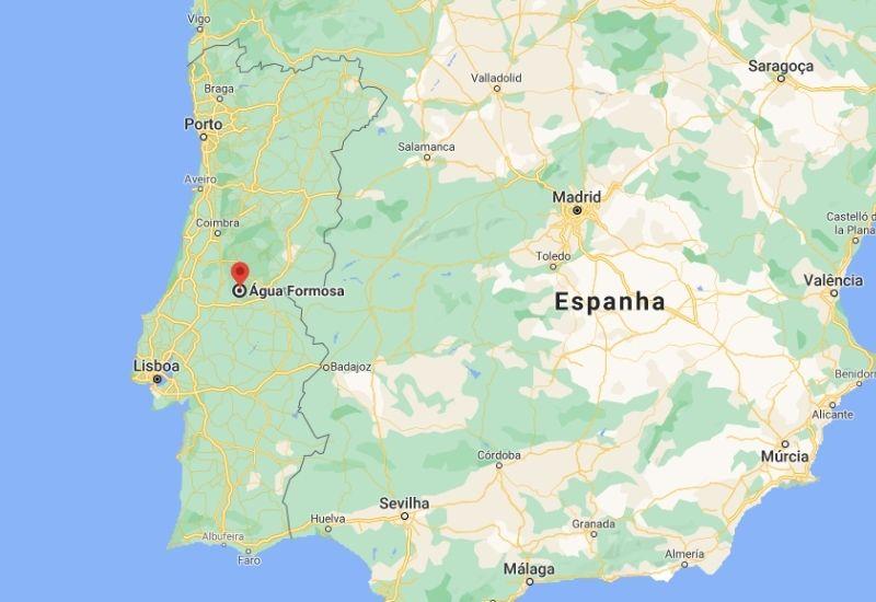 Mapa Água Formosa Portugal