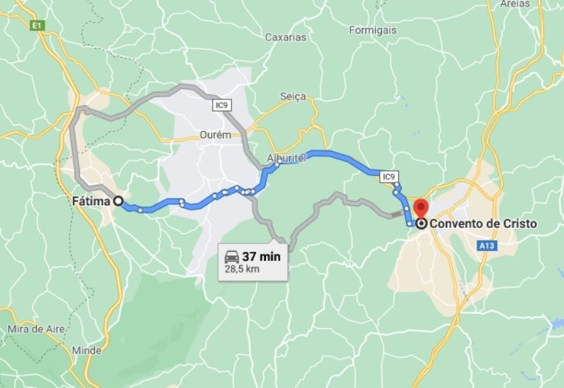O que fazer perto de Fátima: Convento de Cristo